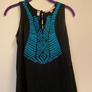 Forever 21 black and teal blouse size S